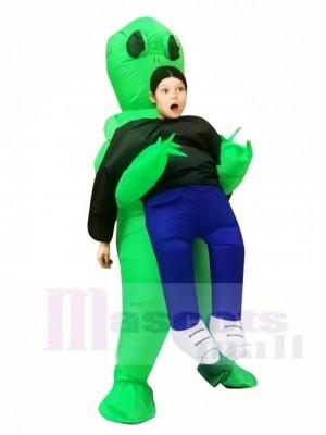 vert Extraterrestre ET Porte moi Monstre Gonflable Exploser Halloween Noël Les costumes pour Des gamins