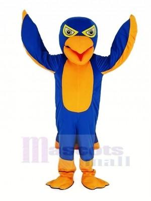 Royal Bleu et Orange Faucon Mascotte Costume Animal