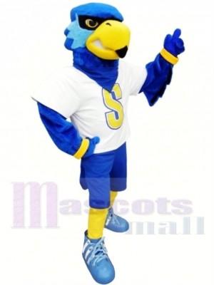 sport Oiseau bleu Costume de mascotte