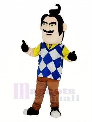 M. Peterson de Bonjour Voisin Homme Mascotte Costume Gens