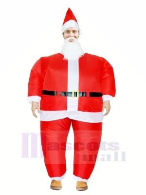 Père Noël Claus Gonflable Halloween Noël Mascotte Les costumes Dessin animé Pour Adultes