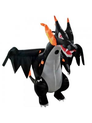 cracheur de feu Dragon Gonflable Costume Halloween Noël Costume pour Adulte