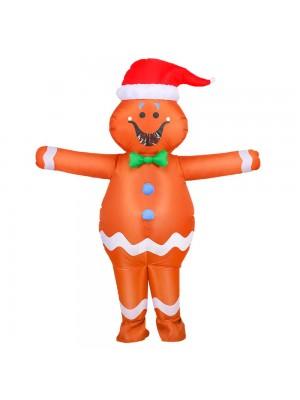 pain d'épice Homme Gonflable Costume Coup en haut Halloween Noël Le maillot de corps pour Adulte