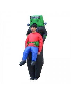 Robot Extraterrestre Porter moi Gonflable Costume vert Robot Halloween Noël Le maillot de corps pour Adulte