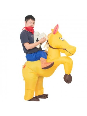 Cheval Porter moi Baladesur Gonflable Costume Halloween Noël pour Adulte