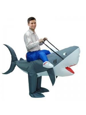 Requin Porter Moi Balade sur Gonflable Costume Fantaisie Robe Pour Adulte/enfant
