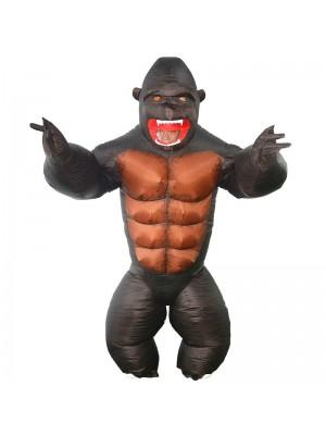 Gorille Gonflable Costume Singe Orang-outan Gibbon Chimp Costume pour Adulte