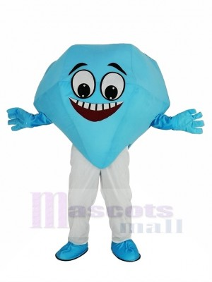 Bleu diamant Mascotte Costume Dessin animé