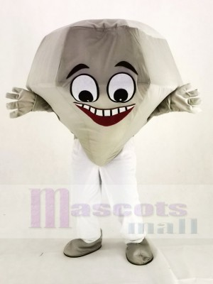 argent diamant Mascotte Costume Dessin animé