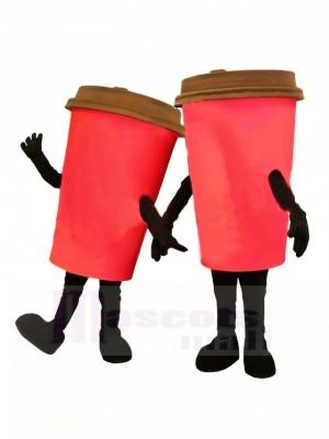 rouge Tasse à café Costume de mascotte