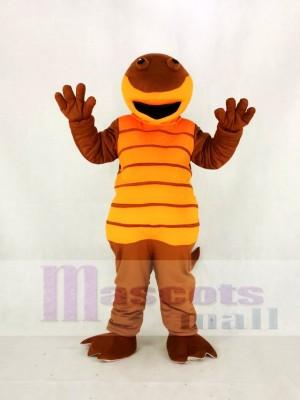 Haute Qualité Adulte Orange Gamelle Salamandre Mascotte Costume Dessin animé