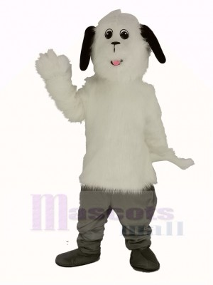 blanc Hirsute Maggy Chien Mascotte Costume Animal
