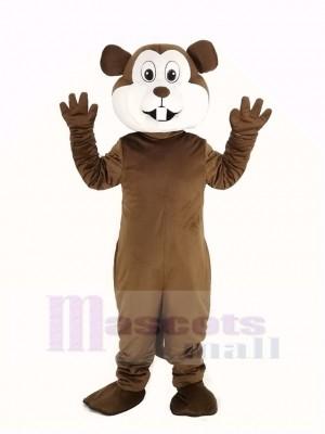 marron Gopher Mascotte Costume Animal