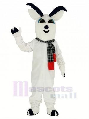 Neige Cerf avec Écharpe Mascotte Costume Animal