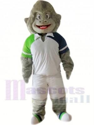 Gorille gris sportif Costume de mascotte