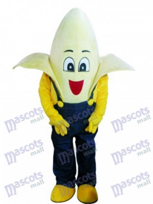 Banana with Overalls Costume de mascotte Fruit Nourriture