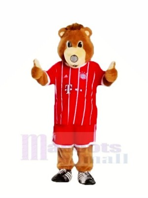 Bayern Munich Ours avec rouge vêtements Mascotte Les costumes Animal