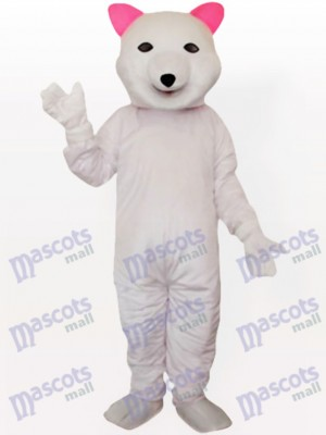 Costume de mascotte adulte ours polaire rose