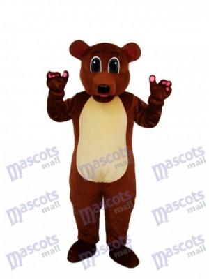 Déguisement de mascotte d'ours brun doré Animal