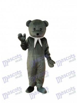 Déguisement d'ours mascotte grise Costume adulte
