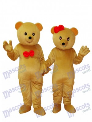 Deux ours en peluche Mascotte Costume adulte Animal