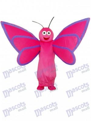 Mascotte de papillon rose adulte Costume insecte