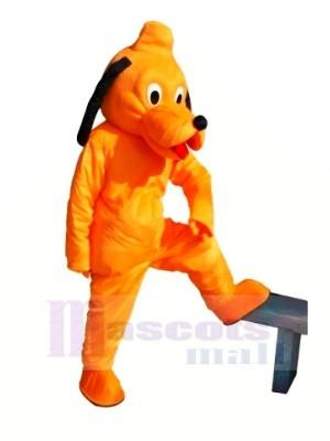 Mignonne Orange Chien Mascotte Les costumes Pas cher