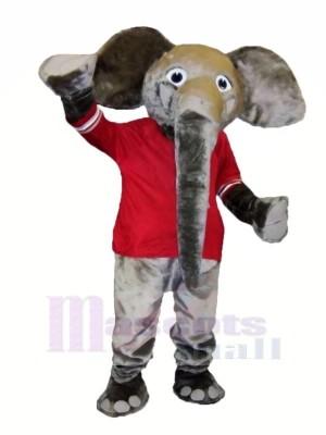 Gros Gris l'éléphant Mascotte Les costumes Animal