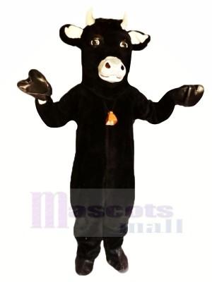 Noir Velu Taureau Mascot Costumes Animal