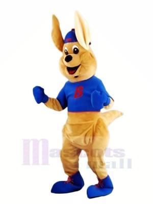 Boxe Kangourou avec Longue Oreilles Mascotte Les costumes Animal