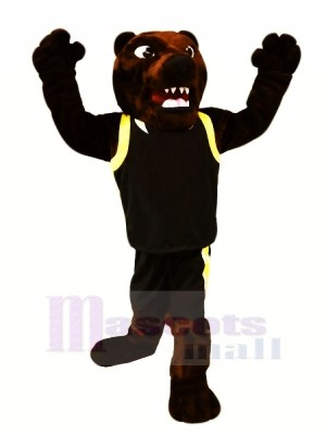 Fort marron Ours Mascotte Les costumes Animal