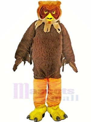 marron Velu Hibou Adulte Mascotte Les costumes Animal