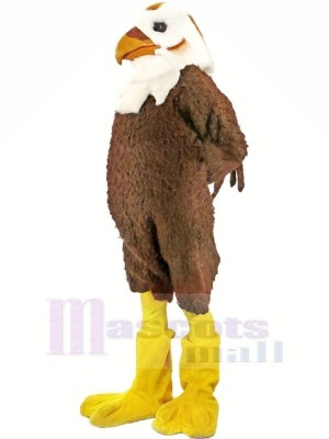 Fort marron et blanc faucon Mascotte Les costumes Animal