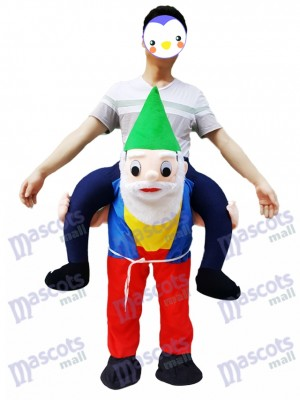 Retour Épaule Jardin Gnome Carry Me Mascotte Ride Costume Noël Partie Outfit