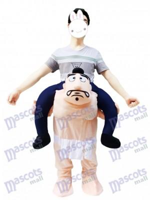 Carry Me Costume de lutte Sumo japonais Lutteur Costume de mascotte Piggy Back