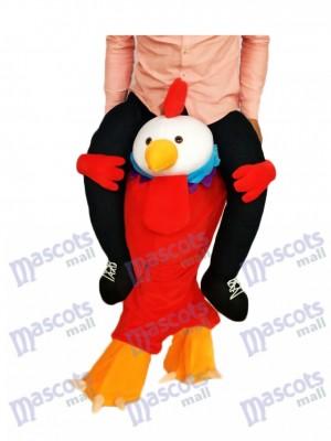 Piggyback Red Chick Portez-moi le costume de mascotte de coq
