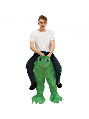 Gros Yeux Grenouille Porter moi Balade sur Halloween Noël Costume pour Adulte