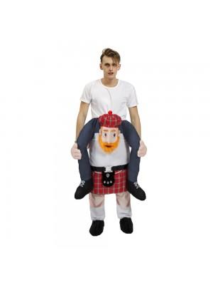 Bière Homme Écossais Lutin Porter moi Balade sur Halloween Noël Costume pour Adulte