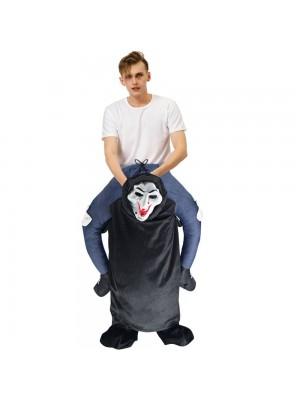 Fantôme Squelette avec Gros Bouche Porter moi Balade sur Halloween Noël Costume pour Adulte