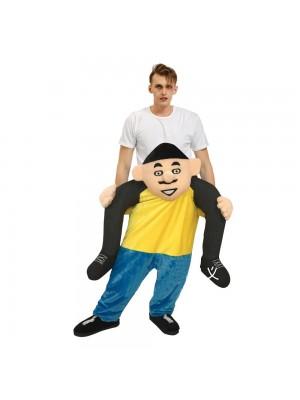 Homme avec Gros Tête Porter moi Balade sur Costume pour Adulte