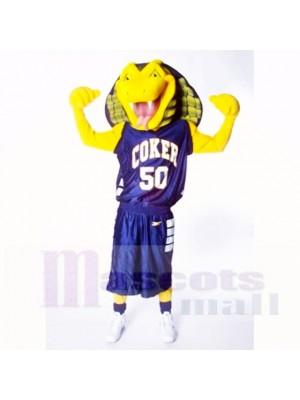 Des sports Jaune Cobra Serpent Costumes De Mascotte Dessin animé