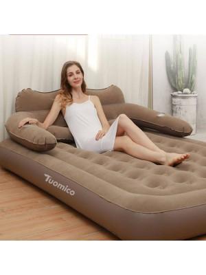 Confortable Paresseux Gens Gonflable Tapis Air Lit Avec Dossier