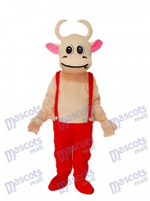 Costume Rouge Mascotte de Vache Rouge Costume Animal
