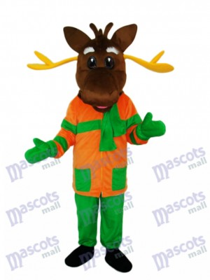 Mascotte de cerf de Noël Costume adulte Animal