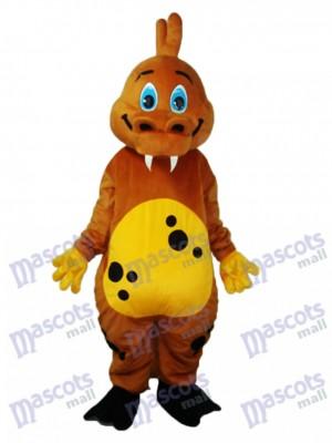 Déguisement de mascotte de dinosaure brun doré Animal Costume
