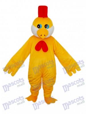 Petit Mascotte de Poulet Jaune Costume Adulte