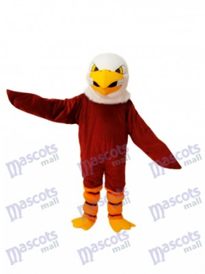 Costume de mascotte aigle marron adulte