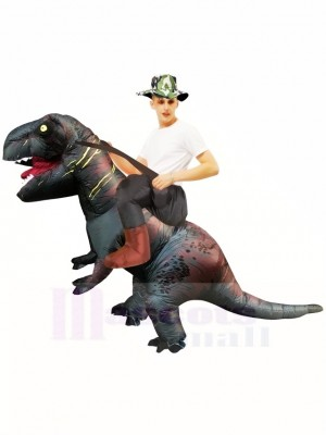 Tyrannosaure gris T-Rex Gonflable Porte moi Ride On Costume