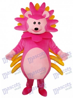 Costume adulte de mascotte hérisson rose Animal
