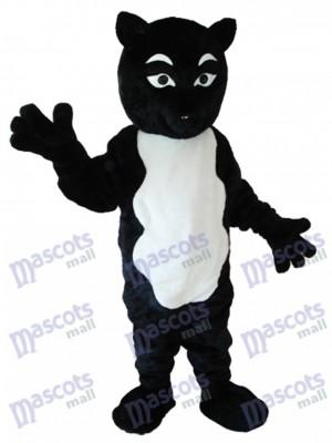Costume de Mascotte Renard Noir et Blanc Animal
